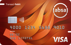 Transact account card